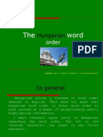 The hungarian word order