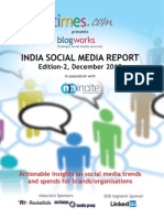 Blogworks India Social Media Report Edition 2 in Association With NM Incite Light Version