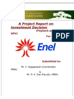 A Project Report on Investment Decision Final