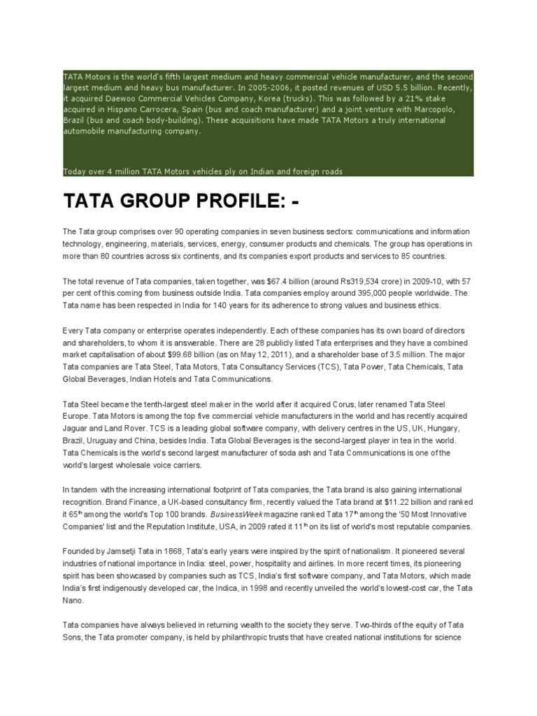 TATA Motors Is The World