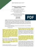 MPC of Condesate Distillation Column