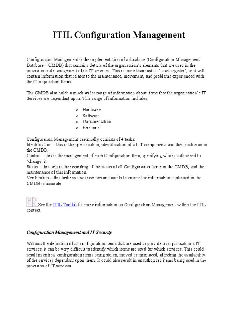 Itil configuration management itil service level agreement xflitez Gallery