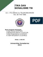 Artikel Tentang UU ITE 2008 Dan UU Telekomunikasi NO 36