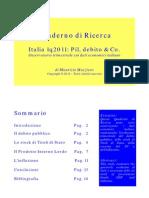 Italia 1q2011 Pil Debito & Co