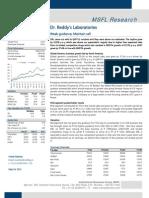 MSFL - Dr Reddy's Laboratories Q4FY11 Result Update