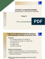 Introduccion a La Macro Curso 2011 - Tema 5 - Blanchard - 9 Marzo 2011