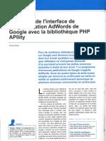adwords de google avec la bibliothèque php apility