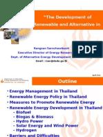 Devolopment of Alternative Energy in Thailand-Final