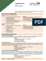 APHC 2011 Programme 120511