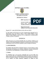 Corte Constitucional T-051 de 2011