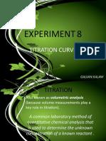 Experiment 8 - Titration Curve