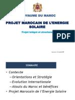 Presentation Du Projet Marocain de Energie Solaire