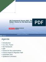 OA Framework Versus ADF[1]