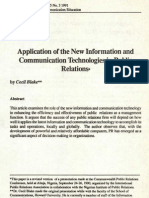 Applications of New Information and Communication Technologies in Public Relation Africa Media Rev 1991
