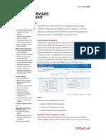 Services Procurement Data Sheet