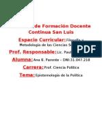 Epistemologia Trabajo Final-Filosofia Politica