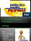 Article v of the Phillipine Constitution