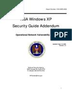 NSA Windows XP Security Guide Addendum