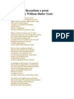 Byzantium a Poem