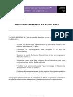 Rapports de Assemblee Generale Du 22 Mai 2011