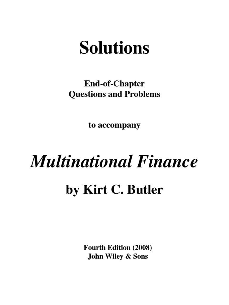 Butler Solution | Exchange Rate | Option (Finance)