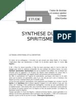 synthèse du spiritisme
