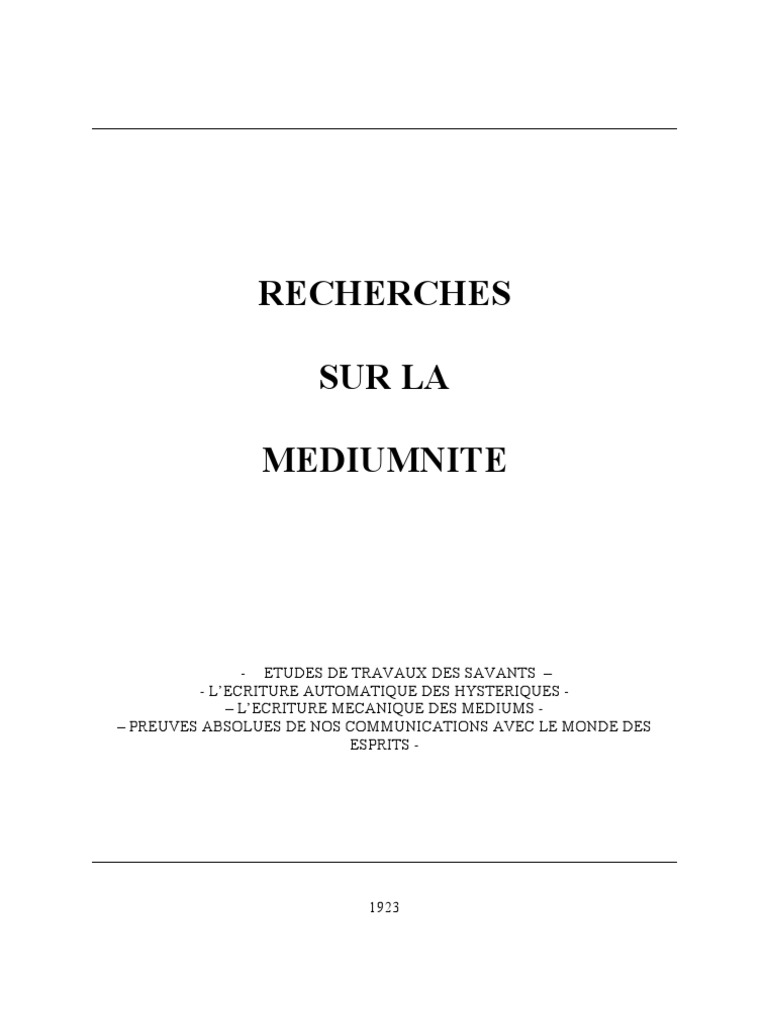 cd8f583ce7b823 Recherche sur la médiumnité