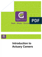 Introduction to Actuary Career