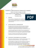 INFORME 016 DE LA OBRA EN JIQUILISCO - AGOSTO 2008