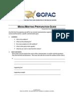Media & Meeting Preparation Guide