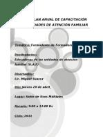 Curso de Capacitacion para las UAF en Formadores de Formadores