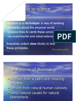 Introduction to Science Power Point