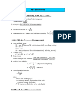 Ch 1 - Key Equations