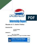 Shamim.internship Report Asif Ali Khan