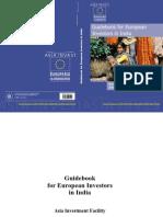 Guidebook for European Investors in India