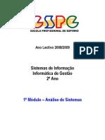 Análise de Sistemas - 1º Módulo - SI