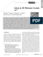 Defects in 3D Photonic Crystals