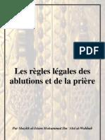 Les Regles Legales Des Ablutions Et de La Priere