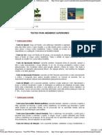 Testes para Membros Superiores - FisioWeb WGate - Referência em Fisioterapia na Internet