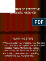 Preparing of Effective Business Message