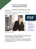 Alerta OIT Discriminacion Laboral de La Mujer