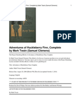Adventures of Huckleberry Fin FULL EBOOK