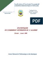 evolution du commerce extérieur algérien 2008