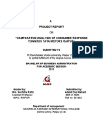 A Project on Consumer Response by Adalat Das Mahant
