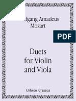 partituras mozart - duos para violin y viola