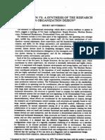 Structure In Five Management Science Mintzberg 1980 Bureaucracy Decentralization
