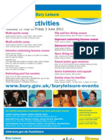 May Half Term Events A3
