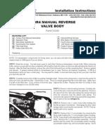 Ati Manual Reverse Valve Body