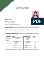 Preeti Jain Resume