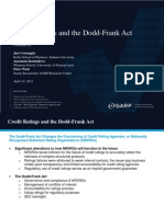 Credit Ratings and the Doddfrank Act 041211